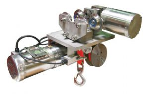 Stainless Steel Strap Hoists for Cleanroom Needs